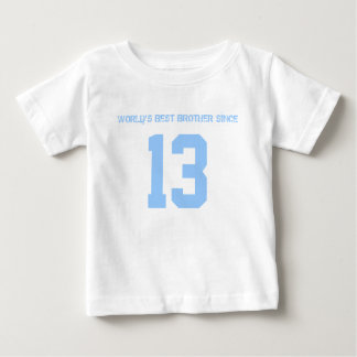 World's Best Baby Brother since year of birth Baby T-Shirt