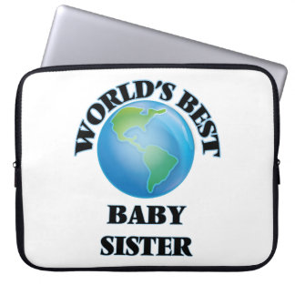World's Best Baby Sister Laptop Computer Sleeves