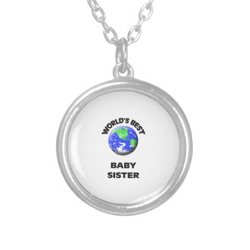 World's Best Baby Sister Personalized Necklace
