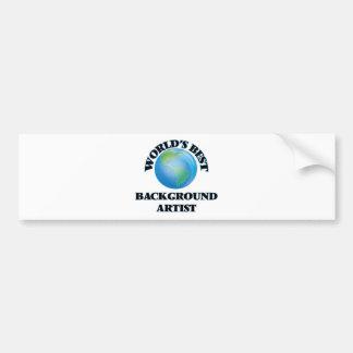 World's Best Background Artist Bumper Sticker
