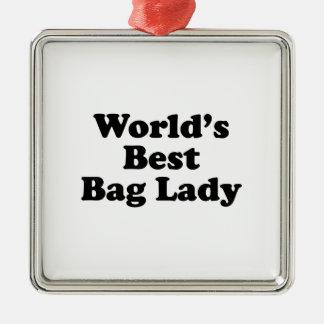 World's Best Bag Lady Christmas Ornament