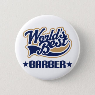 Worlds Best Barber 6 Cm Round Badge