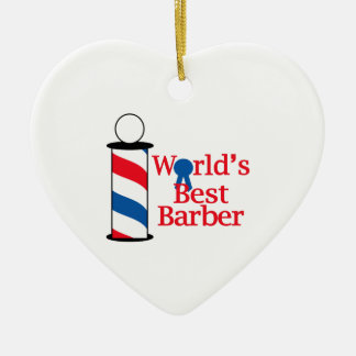 WORLDS BEST BARBER CHRISTMAS ORNAMENT