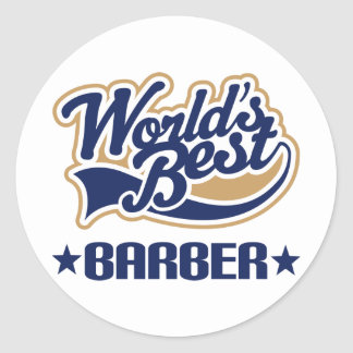 Worlds Best Barber Classic Round Sticker