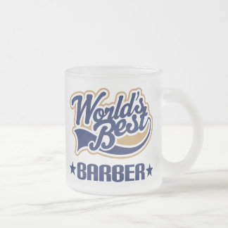 Worlds Best Barber Frosted Glass Coffee Mug