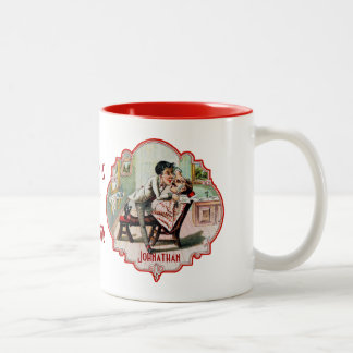 Worlds Best Barber Vintage Two-Tone Coffee Mug