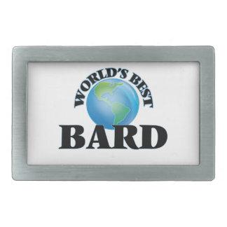World's Best Bard Rectangular Belt Buckle