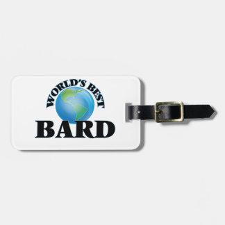 World's Best Bard Travel Bag Tag
