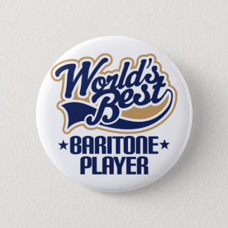 Worlds Best Baritone Player Gift 6 Cm Round Badge