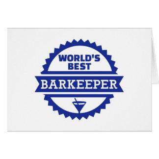 World's best barkeeper bartender greeting card