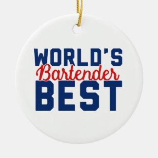 World's Best Bartender Christmas Ornament