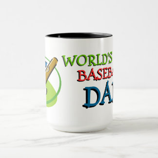 Worlds Best Baseball Dad Mug