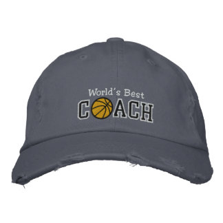 World's Best Basketball Coach Embroidered Hat