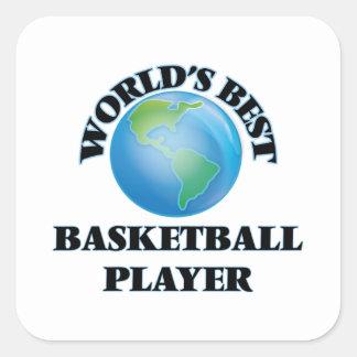 World's Best Basketball Player Square Sticker
