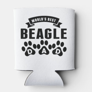 World's Best Beagle Dad Can Cooler