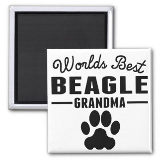 World's Best Beagle Grandma Square Magnet
