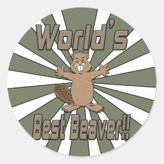 Worlds Best Beaver Classic Round Sticker