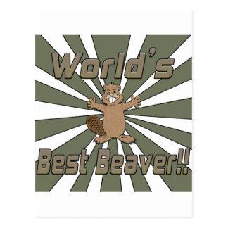 Worlds Best Beaver Postcards