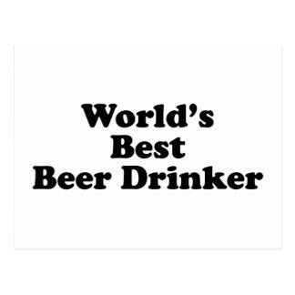 World's Best Beer Drinker Postcard