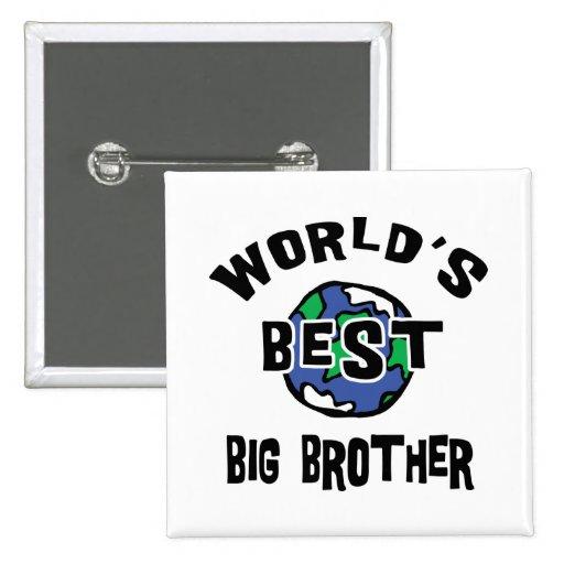 World's Best Big Brother Pinback Button