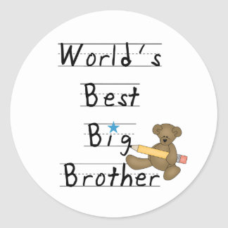 World's Best Big Brother Classic Round Sticker