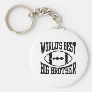 World's Best Big Brother Basic Round Button Key Ring