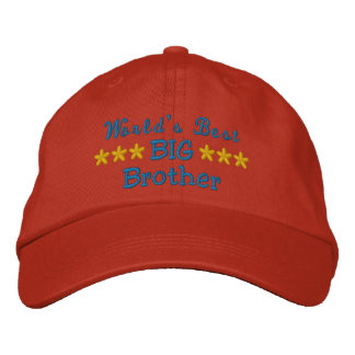World's Best Big Brother or Sister or Dad etc Embroidered Hats