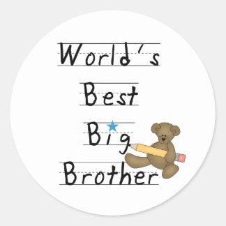 World's Best Big Brother Classic Round Sticker