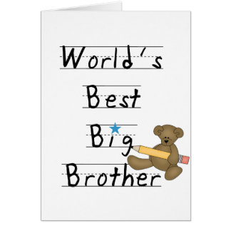 World's Best Big Brother Tshirts and Gifts Card