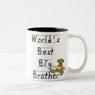 World's Best Big Brother Two-Tone Coffee Mug