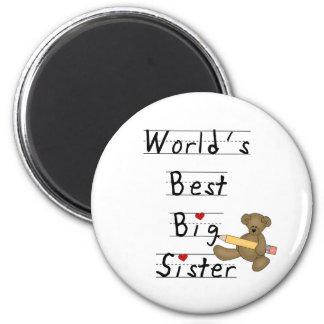 World's Best Big Sister 6 Cm Round Magnet