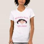Worlds best big sister - asian girl tee shirts