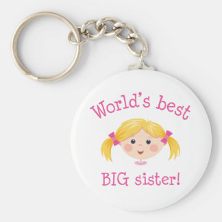 Worlds best big sister - blond hair key chains