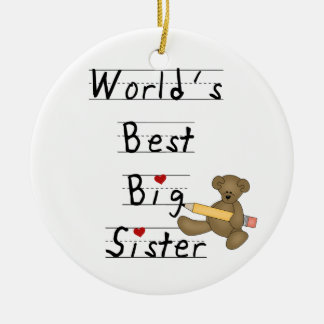 World's Best Big Sister Gifts Christmas Ornament
