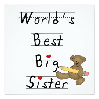 World's Best Big Sister Gifts Custom Invite