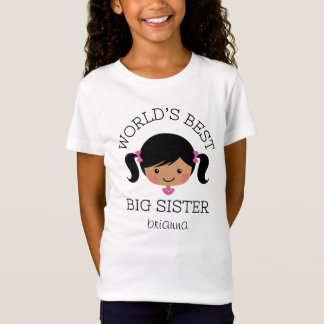 Worlds best big sister personalized T-Shirt