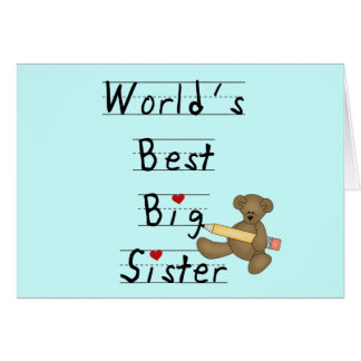 World's Best Big Sister Tshirts and Gifts Card