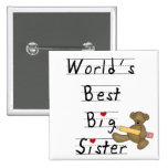 World's Best Big Sister Tshirts and Gifts Pin