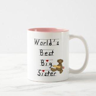 World's Best Big Sister Tshirts and Gifts Two-Tone Coffee Mug