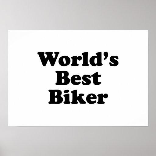 World's Best Biker Poster