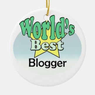 World's best blogger christmas ornament