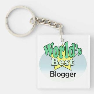 World's best blogger Single-Sided square acrylic key ring