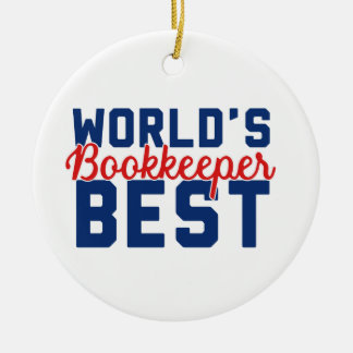 World's Best Bookkeeper Christmas Ornament