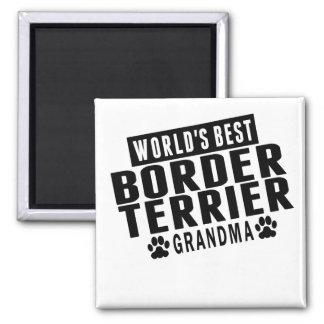World's Best Border Terrier Grandma Square Magnet