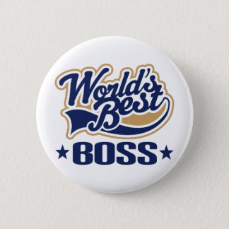 Worlds Best Boss 6 Cm Round Badge