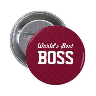 World's Best BOSS Appreciation Gift A07 6 Cm Round Badge