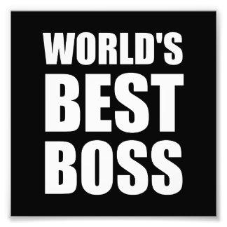 Worlds Best Boss Art Photo
