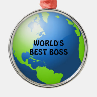World's Best Boss Christmas Ornament