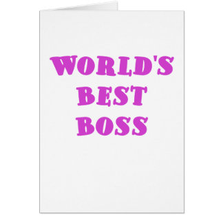 Worlds Best Boss Greeting Cards