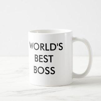 WORLD'S BEST BOSS, No, Really. Basic White Mug